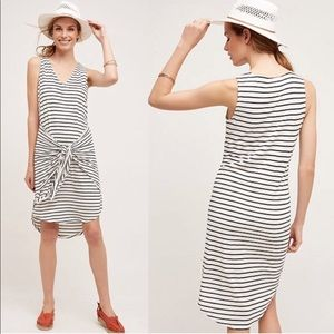 Dolan Left Bank Tie Front Black White Stripe Dress